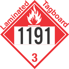 Combustible Class 3 UN1191 Tagboard DOT Placard