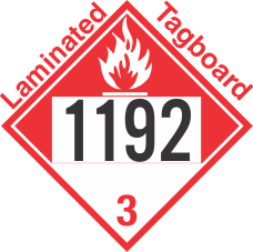 Combustible Class 3 UN1192 Tagboard DOT Placard