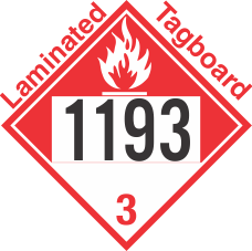 Combustible Class 3 UN1193 Tagboard DOT Placard