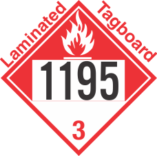 Combustible Class 3 UN1195 Tagboard DOT Placard