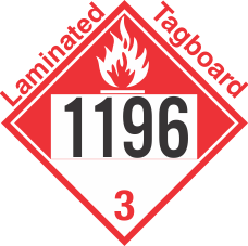 Combustible Class 3 UN1196 Tagboard DOT Placard