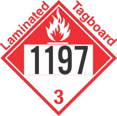 Combustible Class 3 UN1197 Tagboard DOT Placard