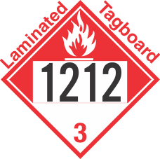 Combustible Class 3 UN1212 Tagboard DOT Placard