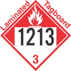 Combustible Class 3 UN1213 Tagboard DOT Placard