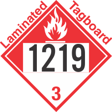 Combustible Class 3 UN1219 Tagboard DOT Placard