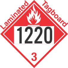 Combustible Class 3 UN1220 Tagboard DOT Placard