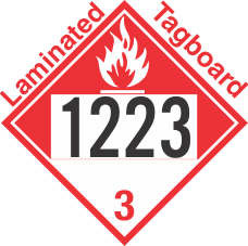Combustible Class 3 UN1223 Tagboard DOT Placard