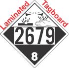 Corrosive Class 8 UN2679 Tagboard DOT Placard