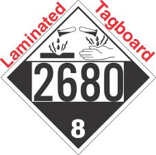 Corrosive Class 8 UN2680 Tagboard DOT Placard