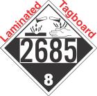 Corrosive Class 8 UN2685 Tagboard DOT Placard