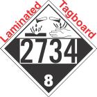 Corrosive Class 8 UN2734 Tagboard DOT Placard