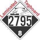 Corrosive Class 8 UN2795 Tagboard DOT Placard