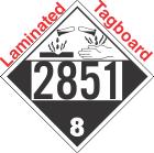 Corrosive Class 8 UN2851 Tagboard DOT Placard