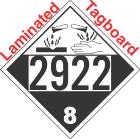 Corrosive Class 8 UN2922 Tagboard DOT Placard