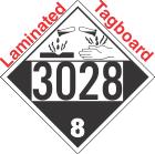 Corrosive Class 8 UN3028 Tagboard DOT Placard