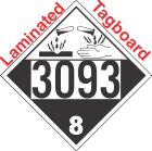 Corrosive Class 8 UN3093 Tagboard DOT Placard