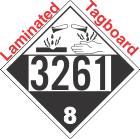 Corrosive Class 8 UN3261 Tagboard DOT Placard