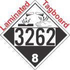 Corrosive Class 8 UN3262 Tagboard DOT Placard