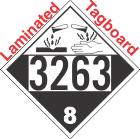 Corrosive Class 8 UN3263 Tagboard DOT Placard