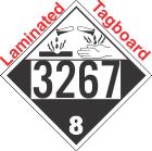 Corrosive Class 8 UN3267 Tagboard DOT Placard