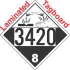 Corrosive Class 8 UN3420 Tagboard DOT Placard