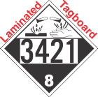 Corrosive Class 8 UN3421 Tagboard DOT Placard