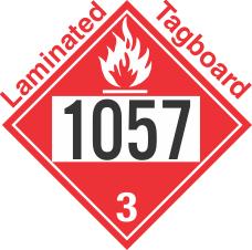 Flammable Class 3 UN1057 Tagboard DOT Placard