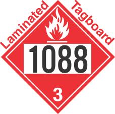 Flammable Class 3 UN1088 Tagboard DOT Placard