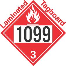 Flammable Class 3 UN1099 Tagboard DOT Placard