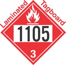 Flammable Class 3 UN1105 Tagboard DOT Placard
