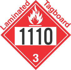 Flammable Class 3 UN1110 Tagboard DOT Placard