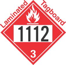 Flammable Class 3 UN1112 Tagboard DOT Placard