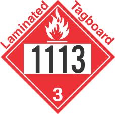 Flammable Class 3 UN1113 Tagboard DOT Placard