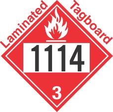 Flammable Class 3 UN1114 Tagboard DOT Placard