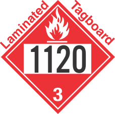 Flammable Class 3 UN1120 Tagboard DOT Placard