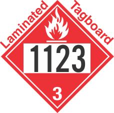 Flammable Class 3 UN1123 Tagboard DOT Placard
