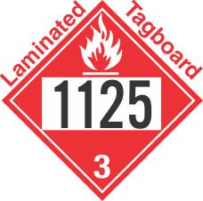Flammable Class 3 UN1125 Tagboard DOT Placard