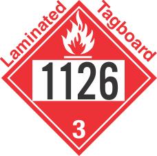 Flammable Class 3 UN1126 Tagboard DOT Placard