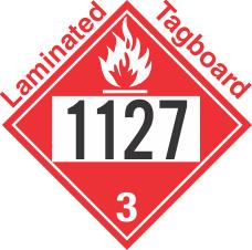 Flammable Class 3 UN1127 Tagboard DOT Placard