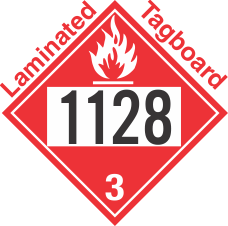 Flammable Class 3 UN1128 Tagboard DOT Placard