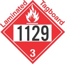 Flammable Class 3 UN1129 Tagboard DOT Placard