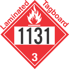 Flammable Class 3 UN1131 Tagboard DOT Placard