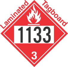 Flammable Class 3 UN1133 Tagboard DOT Placard