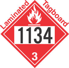 Flammable Class 3 UN1134 Tagboard DOT Placard