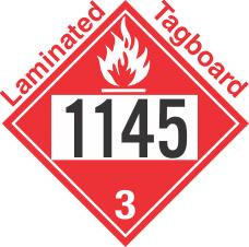 Flammable Class 3 UN1145 Tagboard DOT Placard
