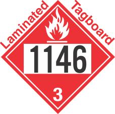 Flammable Class 3 UN1146 Tagboard DOT Placard