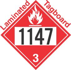 Flammable Class 3 UN1147 Tagboard DOT Placard