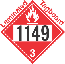Flammable Class 3 UN1149 Tagboard DOT Placard