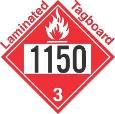 Flammable Class 3 UN1150 Tagboard DOT Placard