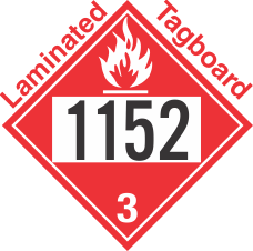 Flammable Class 3 UN1152 Tagboard DOT Placard